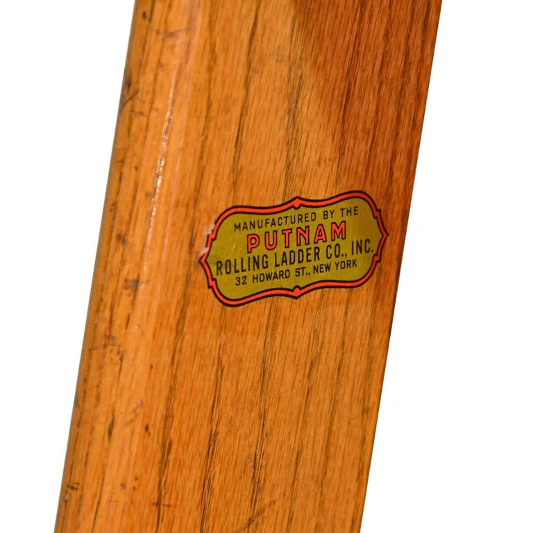 These 11 Foot Rolling Oak Library Ladders Come Complete With Mounting Hardware And Decorative Br Bottom