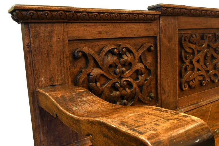 European Carved Wood Bench, circa 1868 In Excellent Condition For Sale In Minneapolis, MN