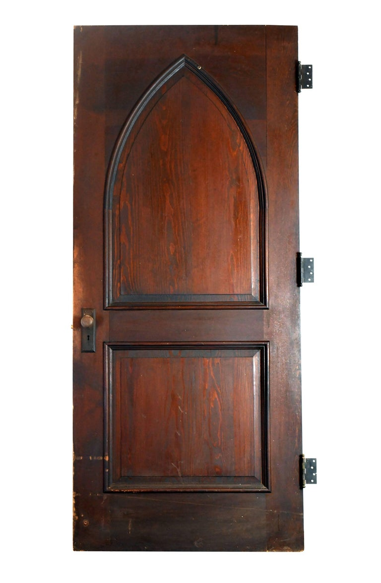 Gothic Oak Arched Door For Sale At 1stdibs