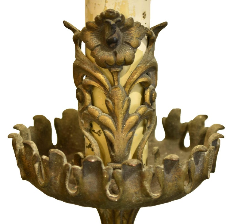 Brass And Bronze Oversized Three Candle Wall Sconce At 1stdibs