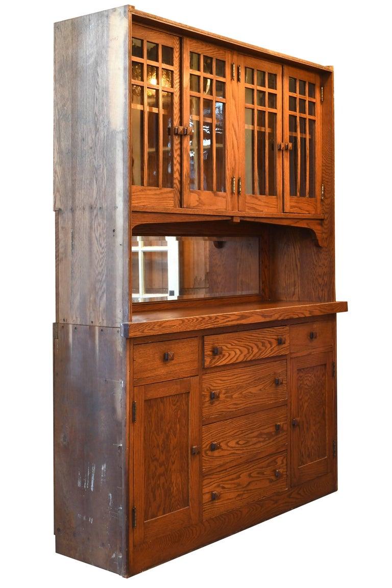 Craftsman Oak Built-In Buffet at 1stdibs