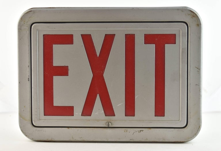 Steel Exit Sign, Quantity Available For Sale 1