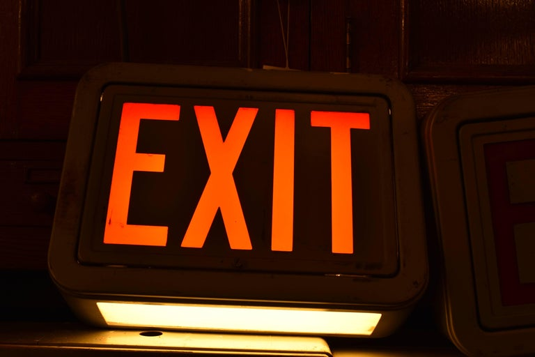 Mid-20th Century Steel Exit Sign, Quantity Available For Sale
