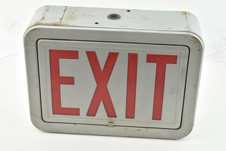 Steel Exit Sign, Quantity Available For Sale 2