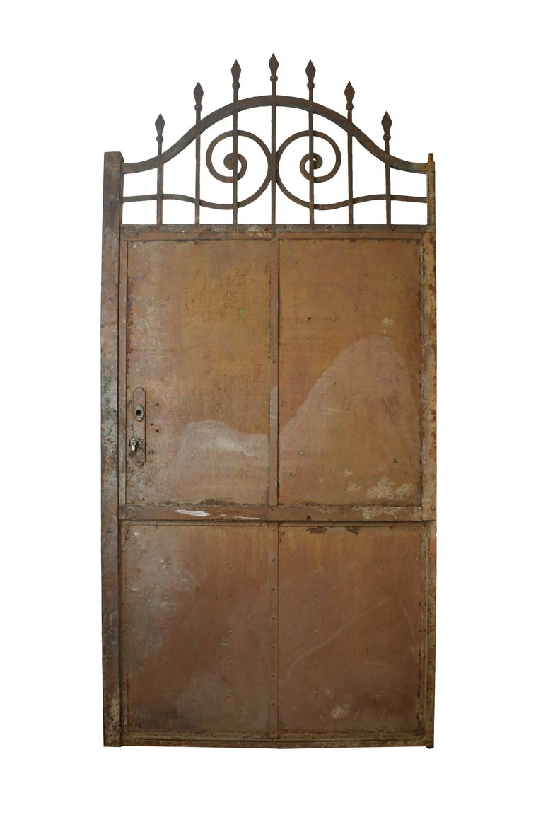 Arched Iron Door with Scrollwork, circa 1900 For Sale 2