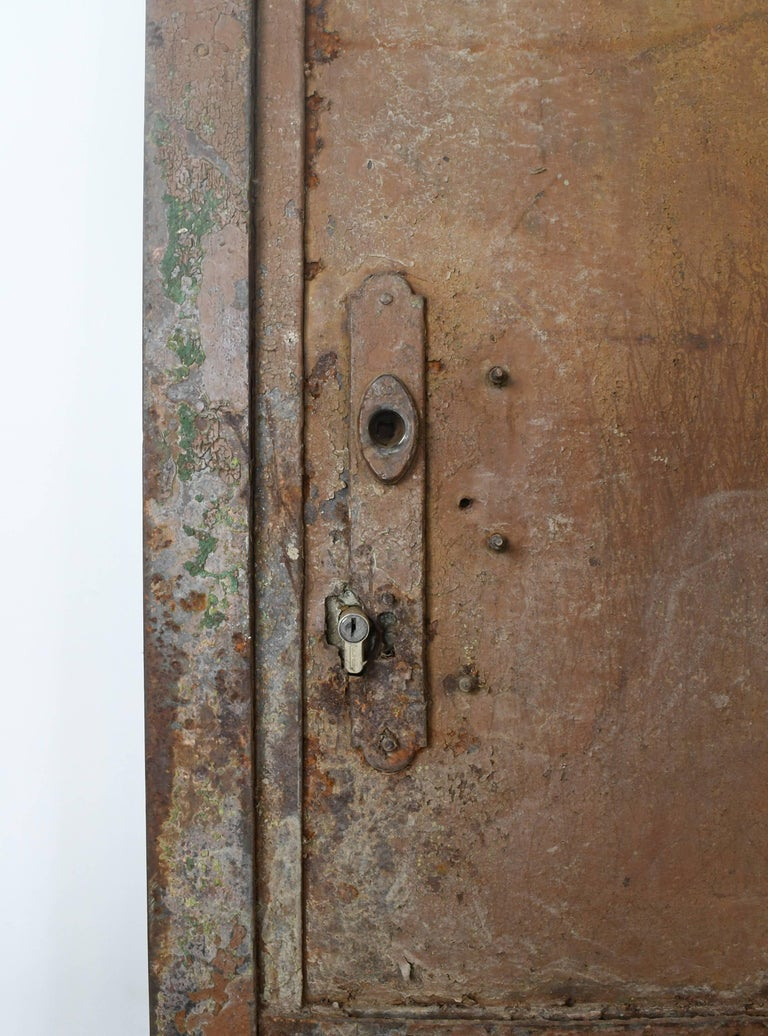 Arched Iron Door with Scrollwork, circa 1900 For Sale 3