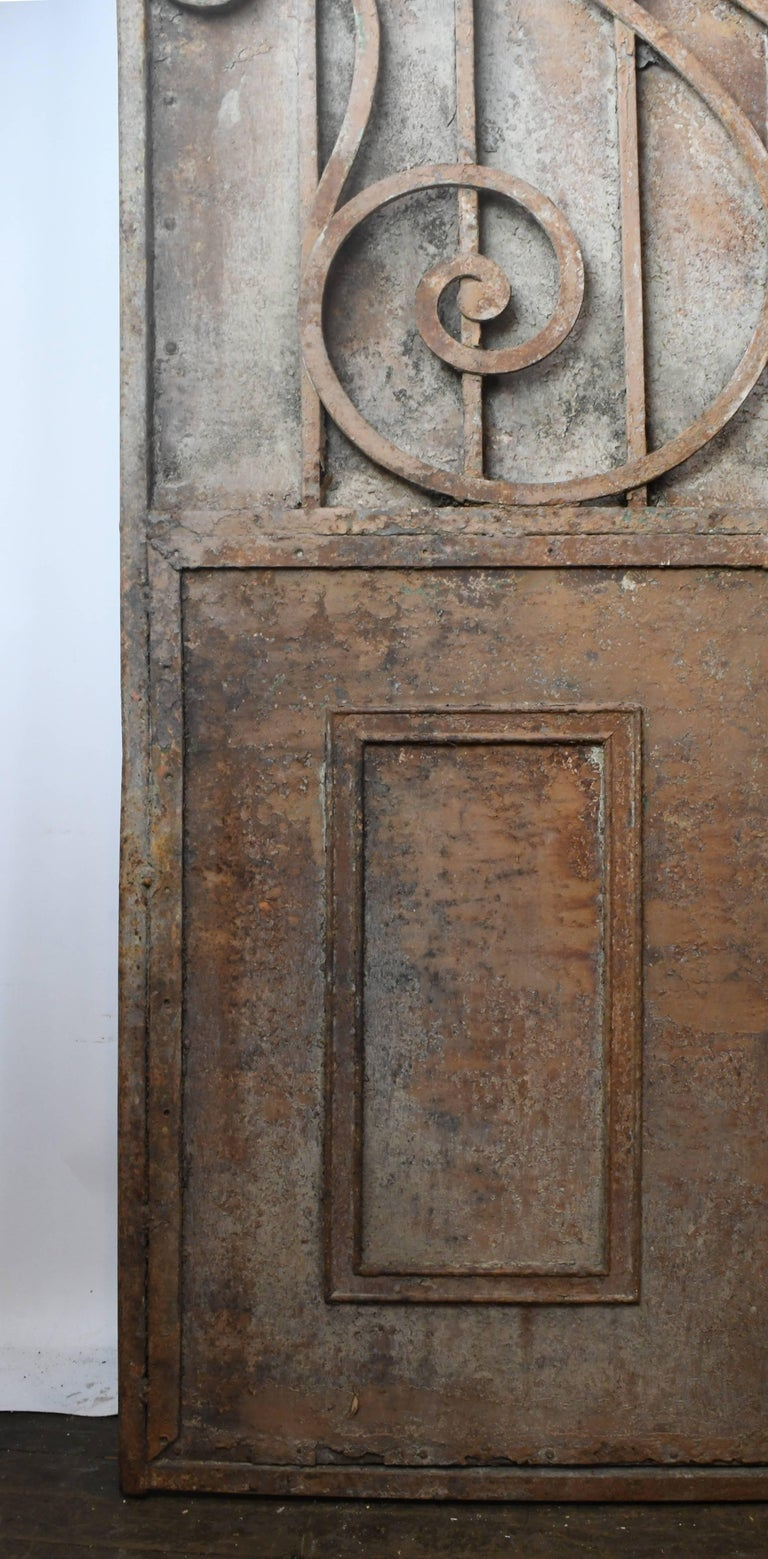 Arched Iron Door with Scrollwork, circa 1900 For Sale 1