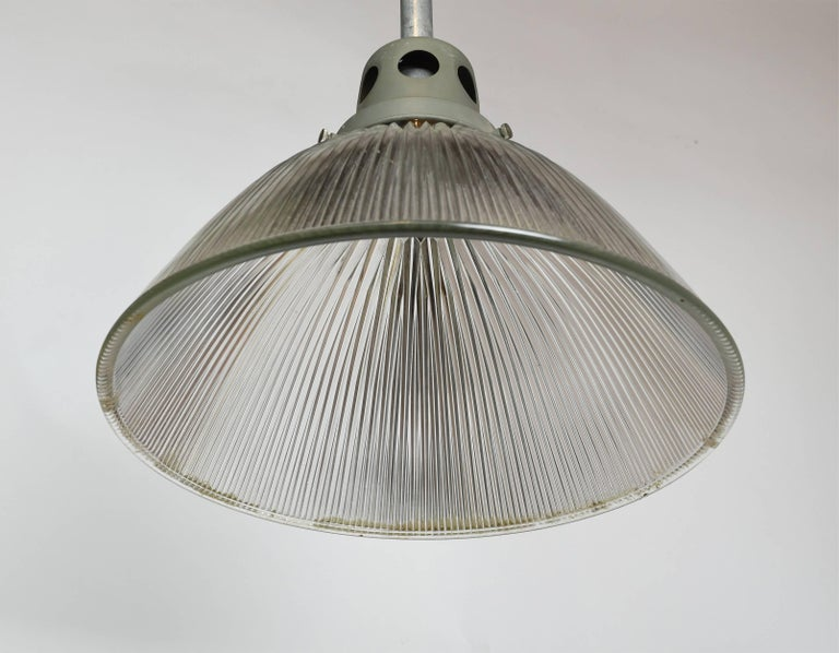 Large Holophane Industrial Pendant with Reflective Shade For Sale 1