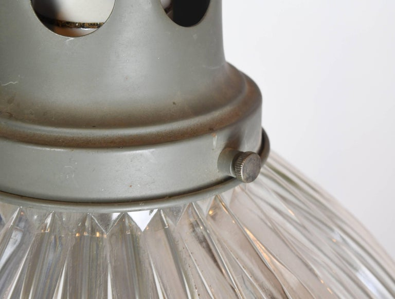 Mid-20th Century Large Holophane Industrial Pendant with Reflective Shade For Sale