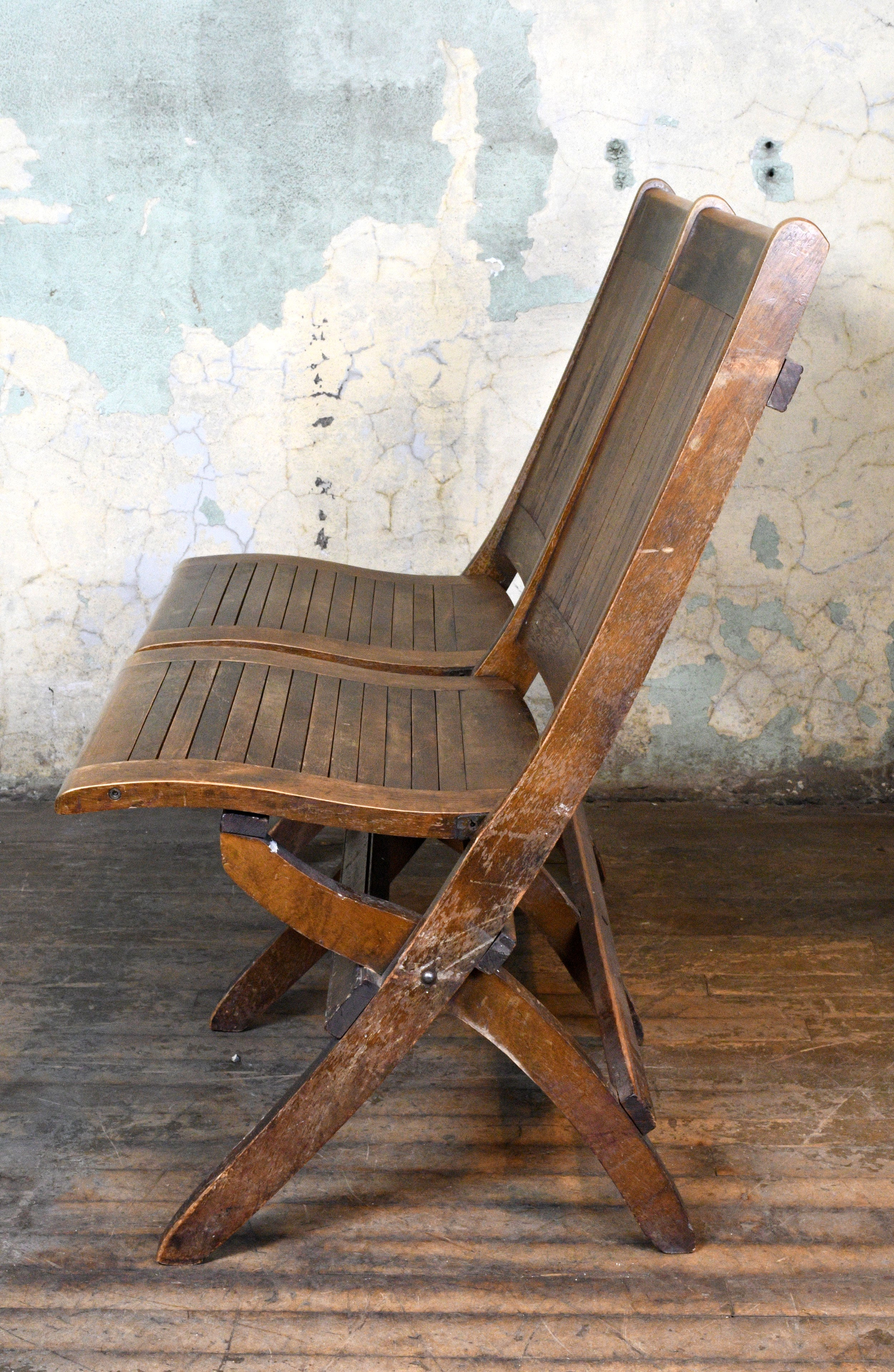Ordinaire Wood Slat Double Folding Chair