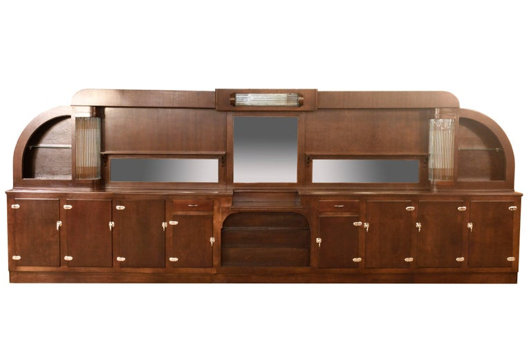 1930s art deco bar with glass rods for sale at 1stdibs for Furniture of america wolfgang home bar cabinet