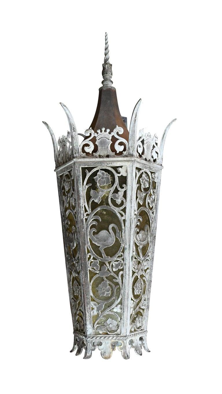 Cast Bronze Tudor Exterior Sconce with Glass For Sale 4