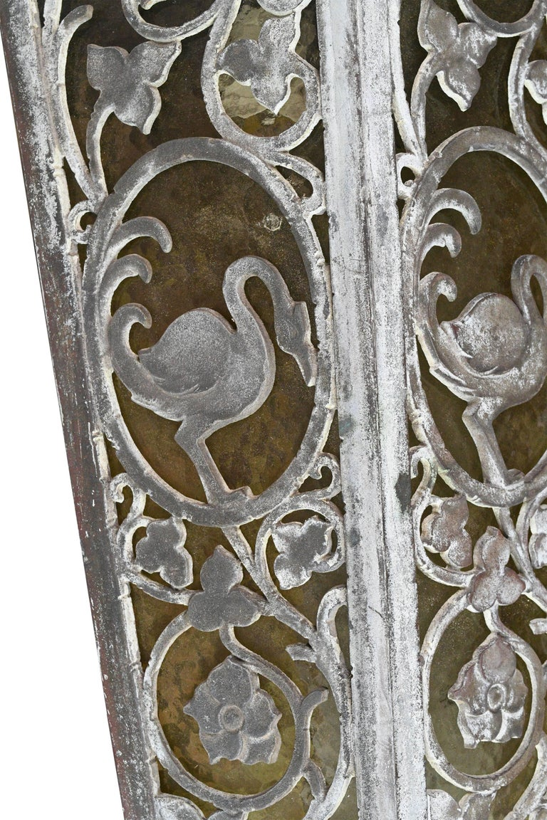 Cast Bronze Tudor Exterior Sconce with Glass For Sale 3