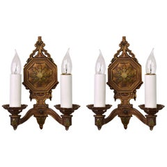 1930s Art Deco Two-Arm Sconce, Pair