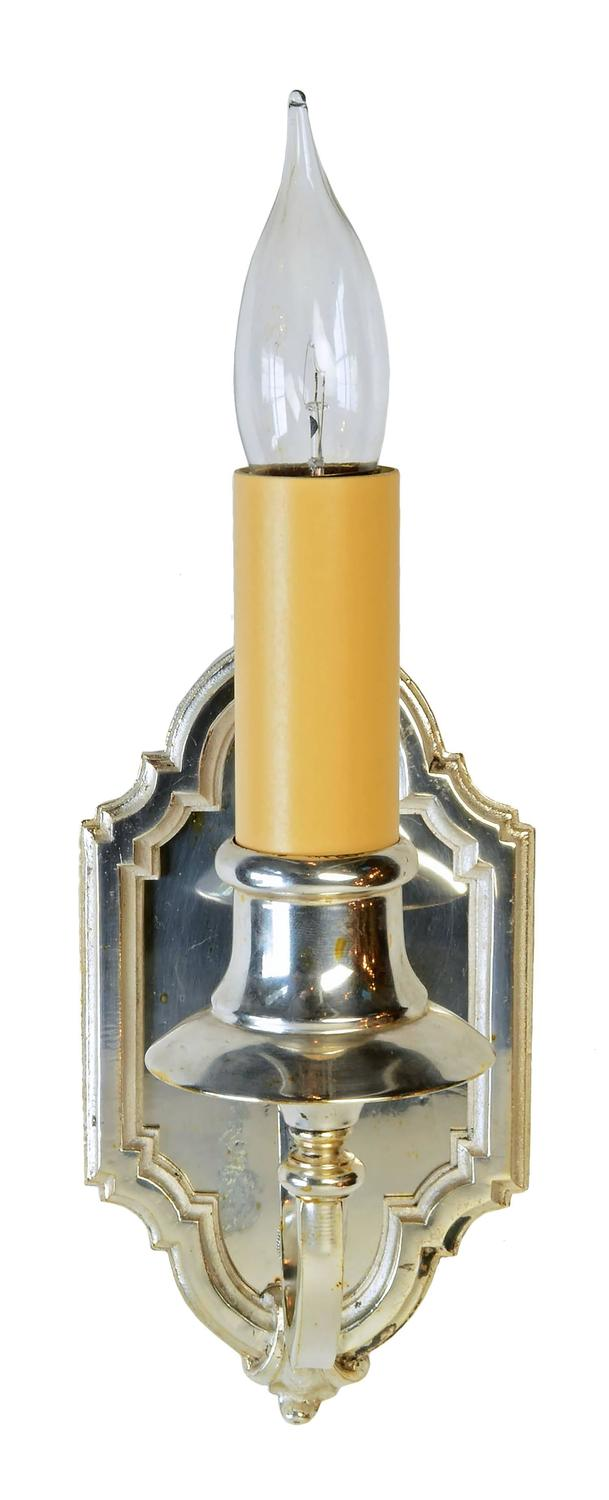 Silver Wall Sconces For Candles : Silver Plated Single Candle Wall Sconce, circa 1915 at 1stdibs
