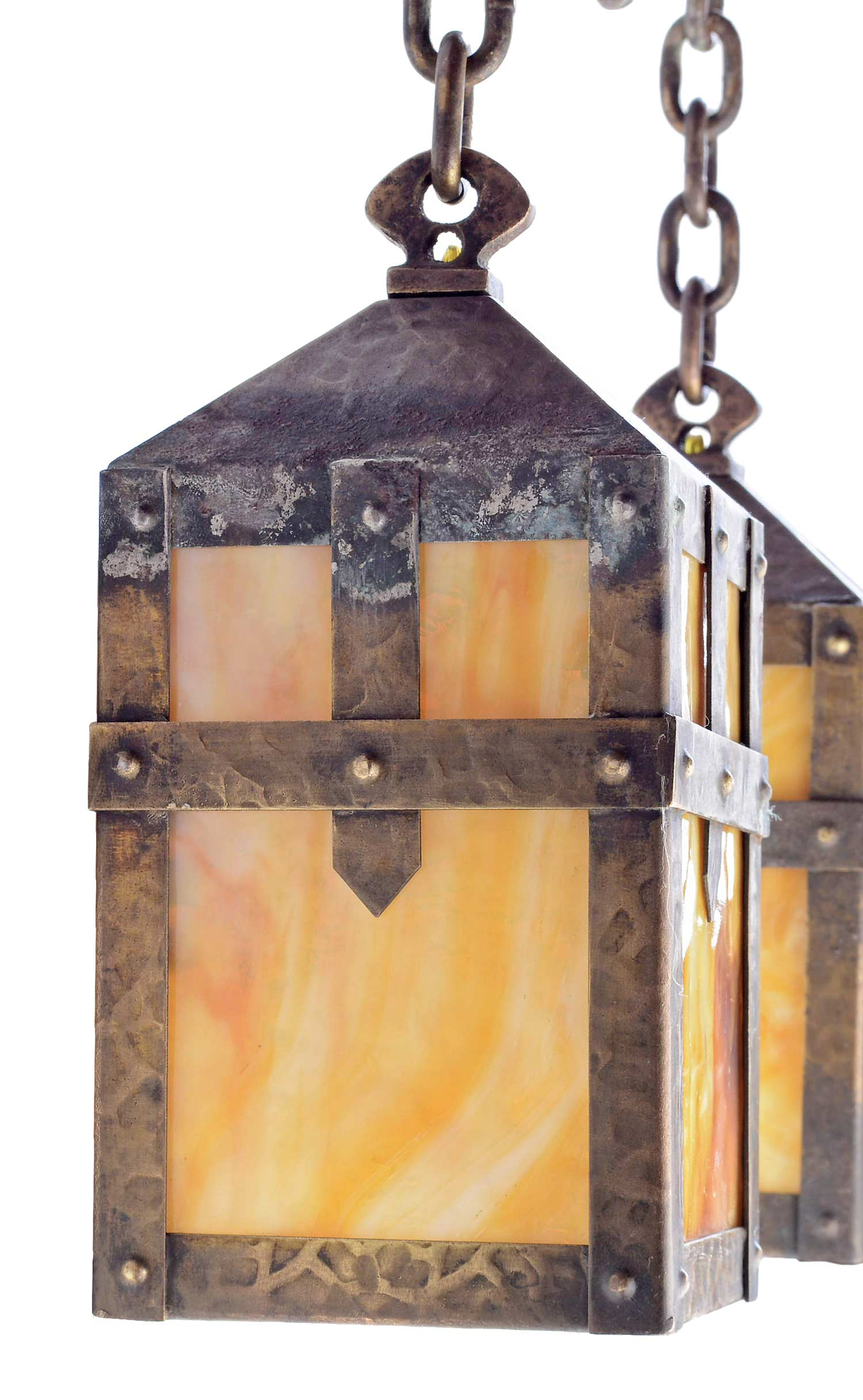 Early 20th century hammered arts and crafts iron fixture at 1stdibs arubaitofo Gallery
