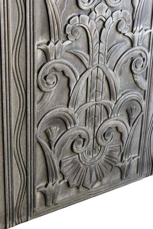 Large Art Deco Cast Auminum Decorative Panels At 1stdibs