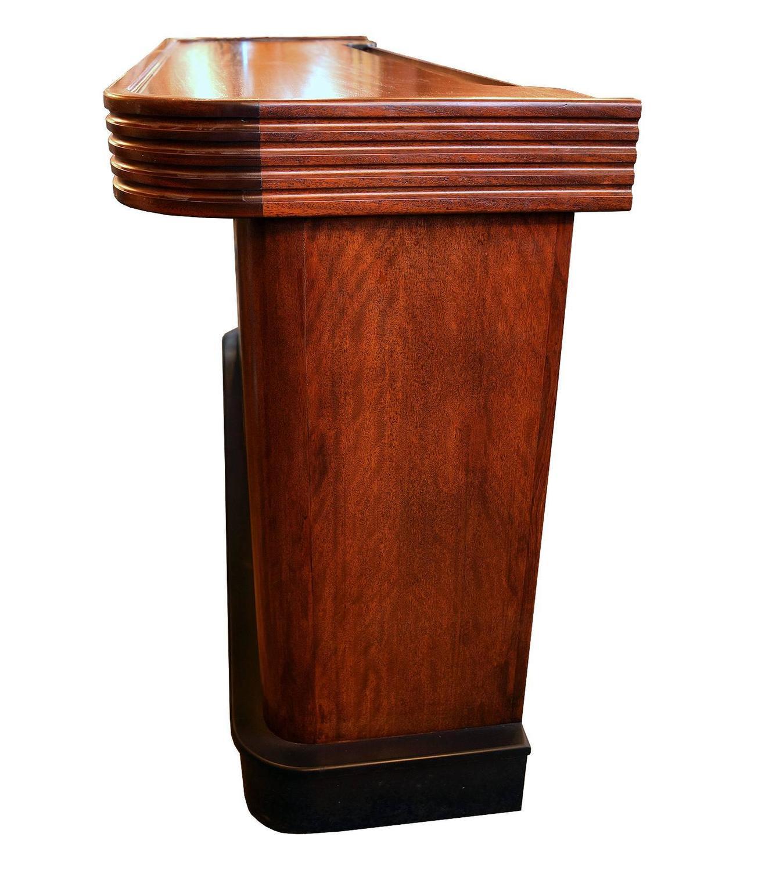 mahogany art deco bar at 1stdibs. Black Bedroom Furniture Sets. Home Design Ideas