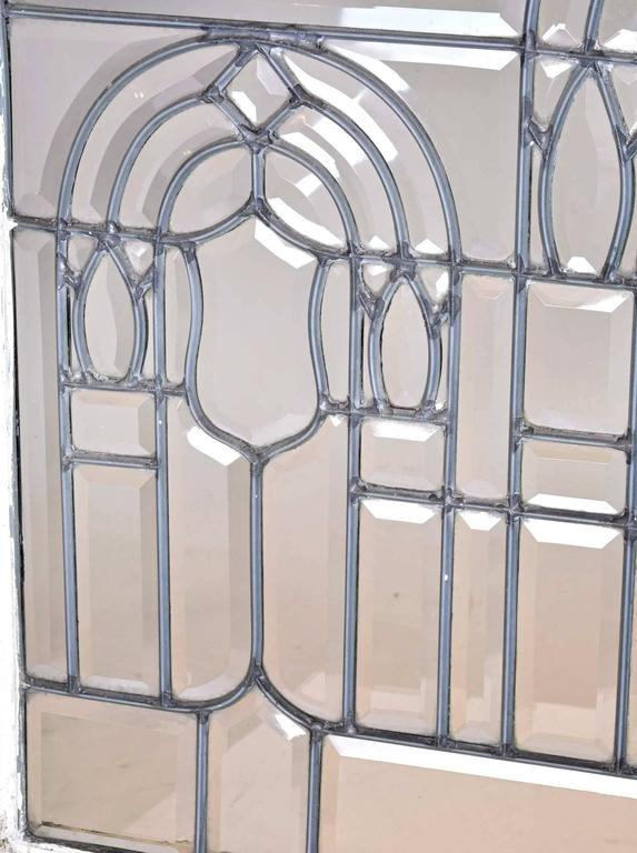 American Turn-of-the-Century Beveled Glass Window with Arches For Sale