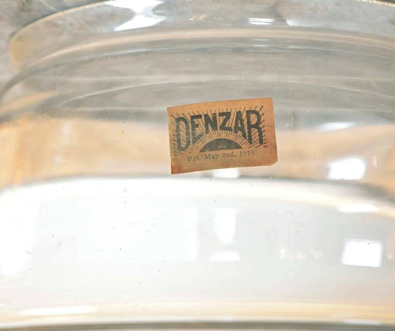 Early 20th Century Early American 'Denzar' Two- Piece Shade and Enameled Fixture by Beardslee For Sale