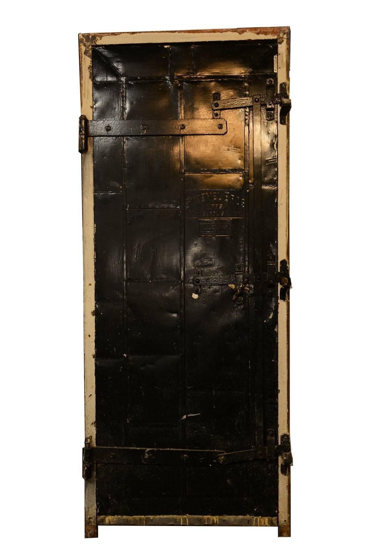 Authentic Stremel Bros Metal Clad 1920s Fire Door With