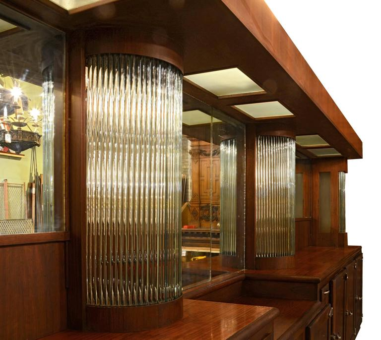 Art Deco Mahogany Bar With Glass Rods Circa 1935 At 1stdibs