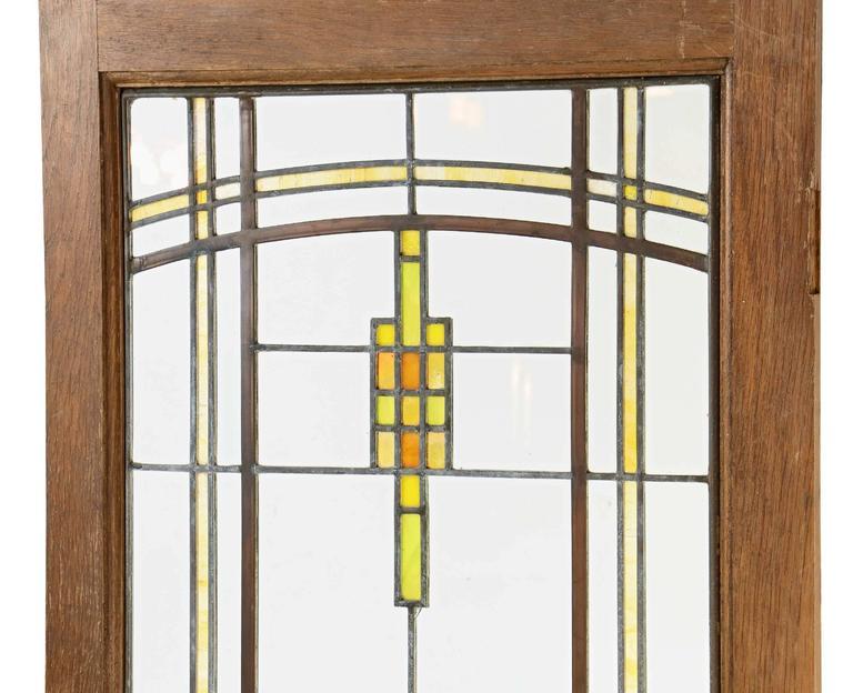 elmslie leaded prairie flower cabinet doors circa 1920 for sale at