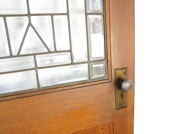Oak Door with Beveled Glass circa 1910 In Excellent Condition For Sale In Minneapolis  sc 1 st  1stDibs & Oak Door with Beveled Glass circa 1910 at 1stdibs