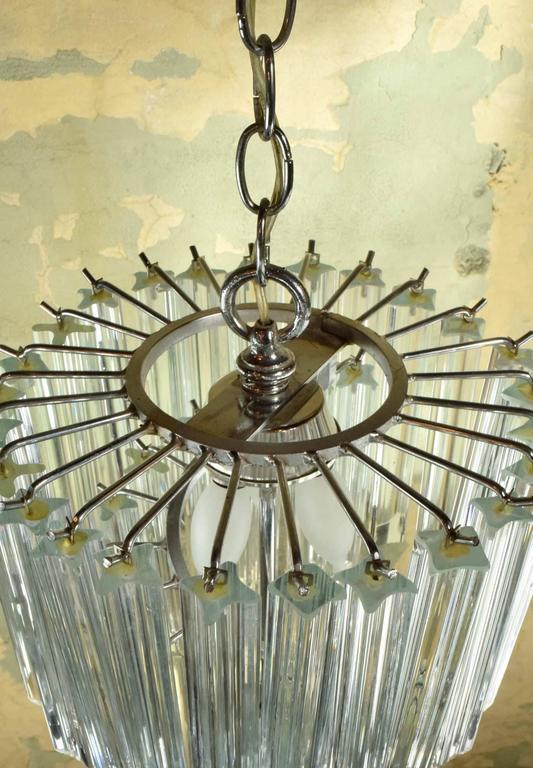 spiral murano glass venini chandelier at 1stdibs. Black Bedroom Furniture Sets. Home Design Ideas