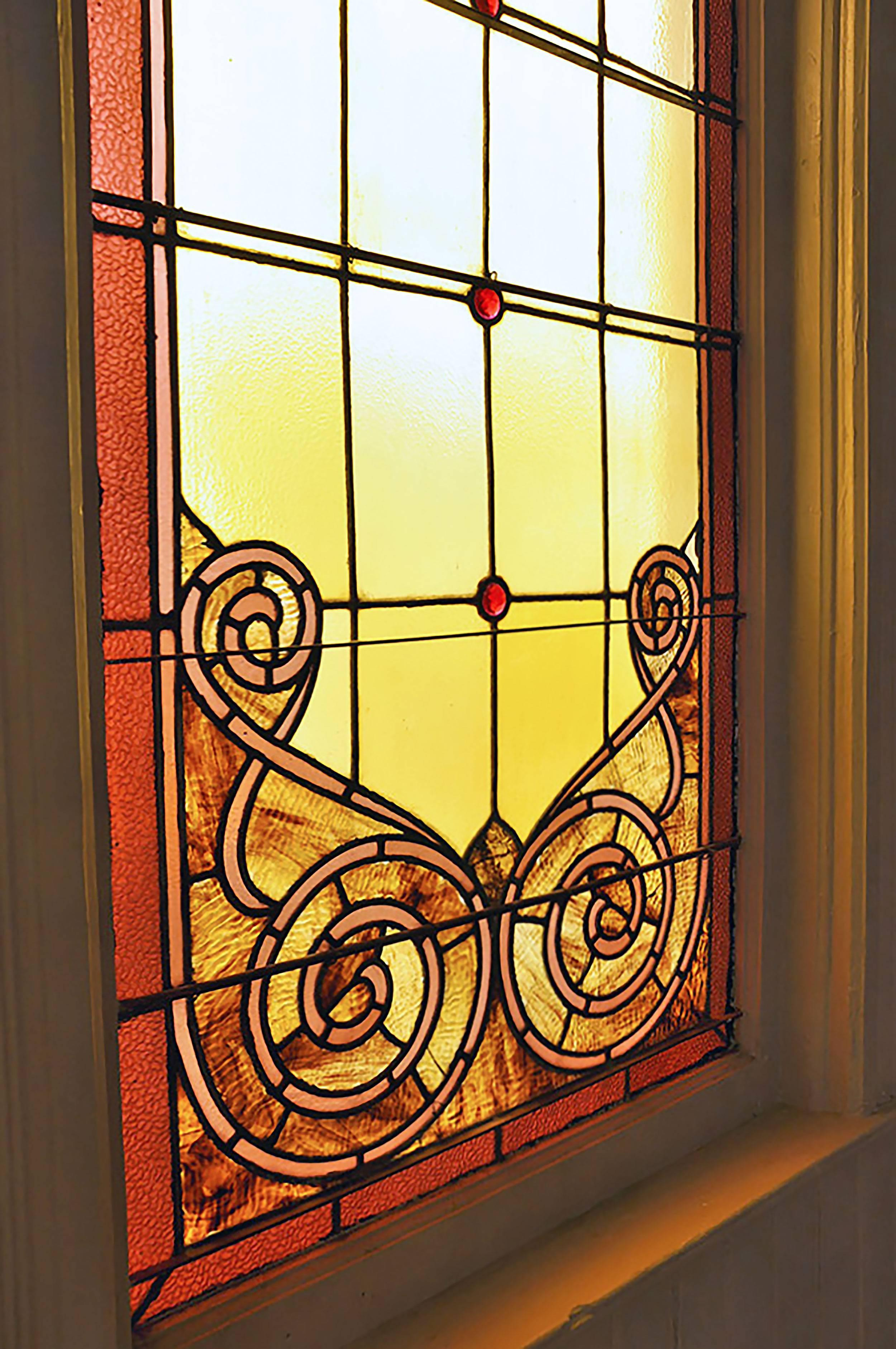 Large Arched Stained Glass Church Window - Two Available For Sale at ...