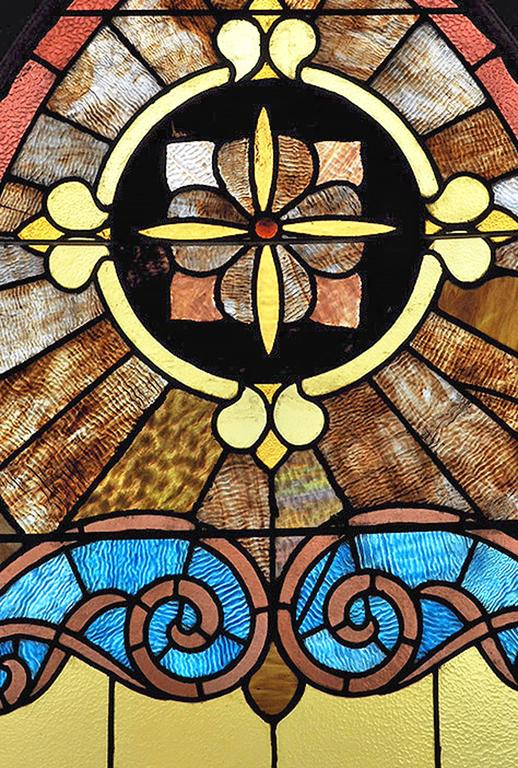 Large Arched Stained Glass Church Window For Sale At 1stdibs