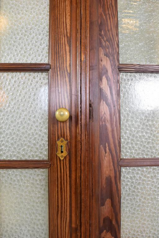 20th Century Fir Bifold French Doors With Florentine Glass At 1stdibs
