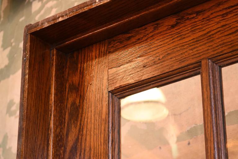American Oak School House Divided Light Door For Sale