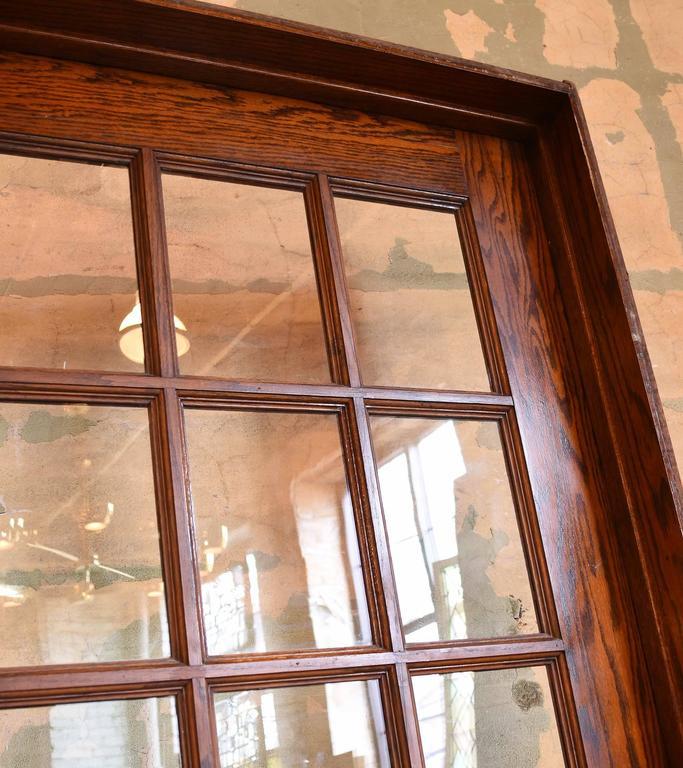Oak School House Divided Light Door In Good Condition For Sale In Minneapolis, MN