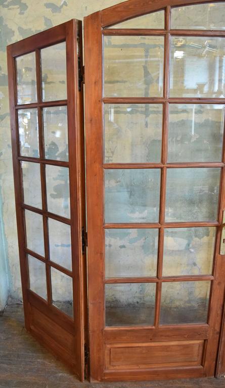 Beveled Arched Pine Bi Fold Doors At 1stdibs