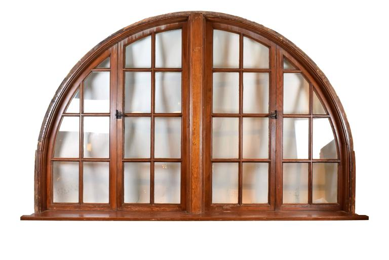 American Large Arched Window Circa 1920 For