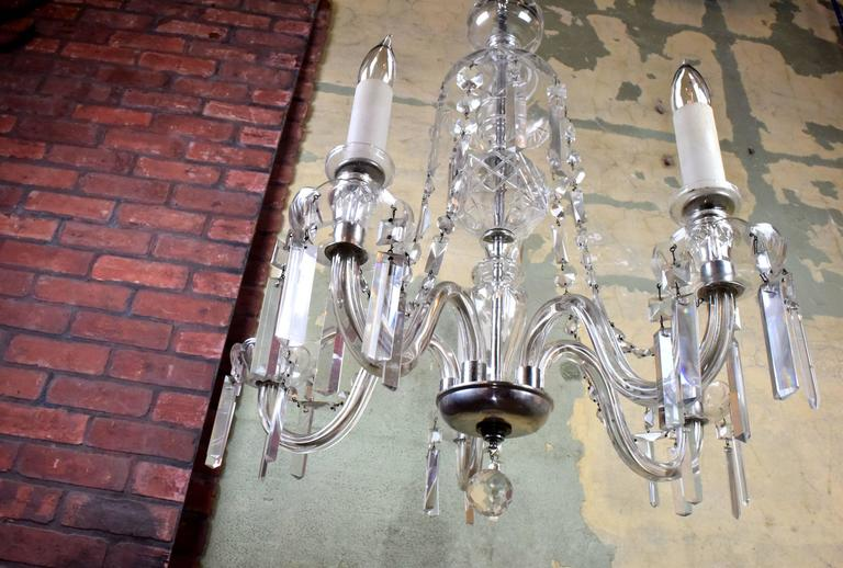 Five arm glass body crystal chandelier circa 1935 at 1stdibs at once elegant and bold this fixture dazzles with its gently curving lines and myriad mozeypictures