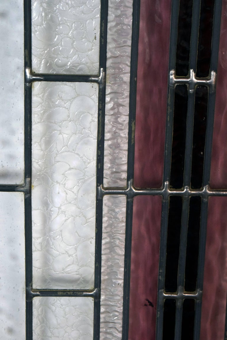 Art deco arched panel with textured glass for sale at 1stdibs for Textured glass panels