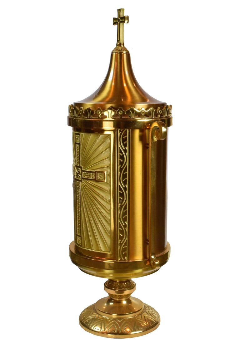 Large Brass And Bronze Tabernacle Circa 1960 For Sale At