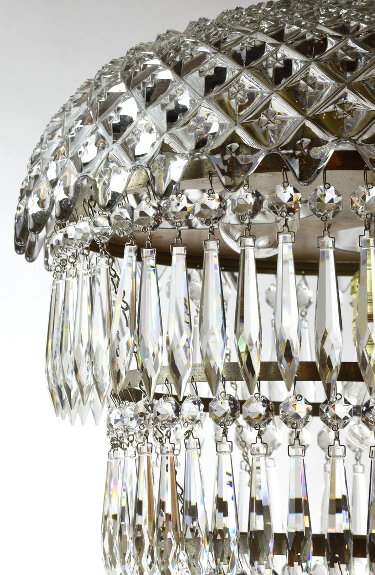 Tiered Wedding Cake Chandelier Circa 1940 For Sale At 1stdibs