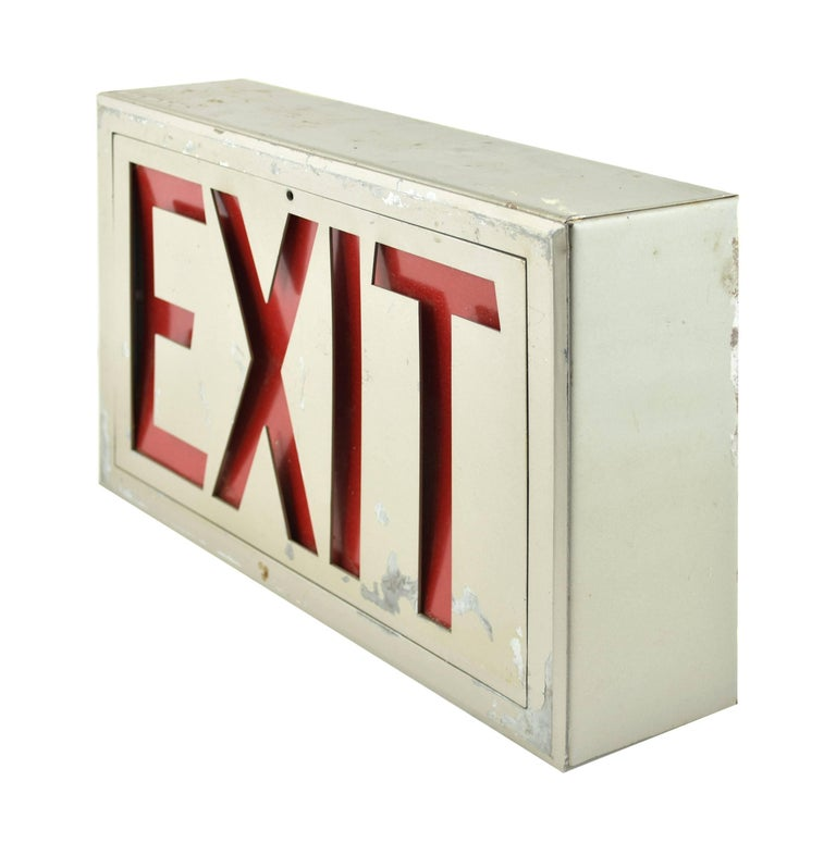 American Steel Exit Sign, Quantity Available For Sale