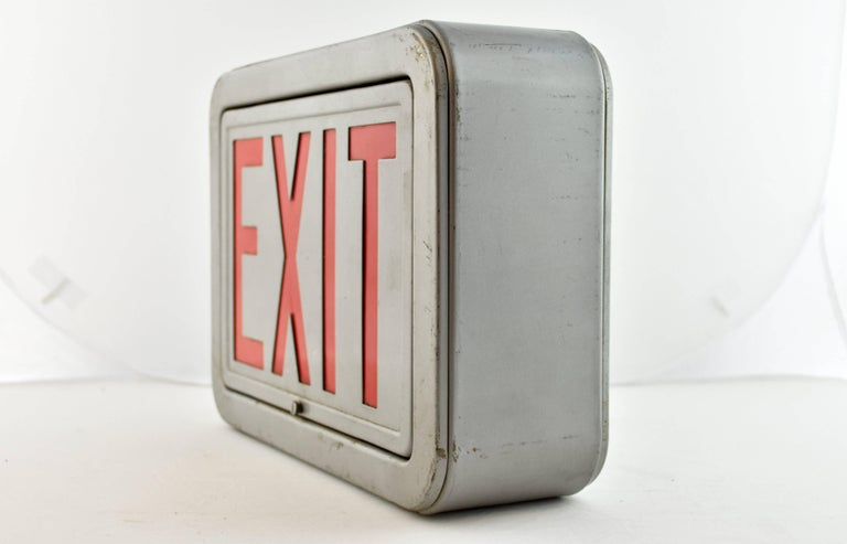 Steel Exit Sign, Quantity Available For Sale 3