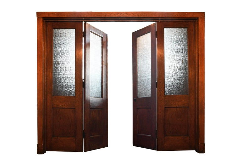 Oak Bi-Fold Door Unit For Sale 2