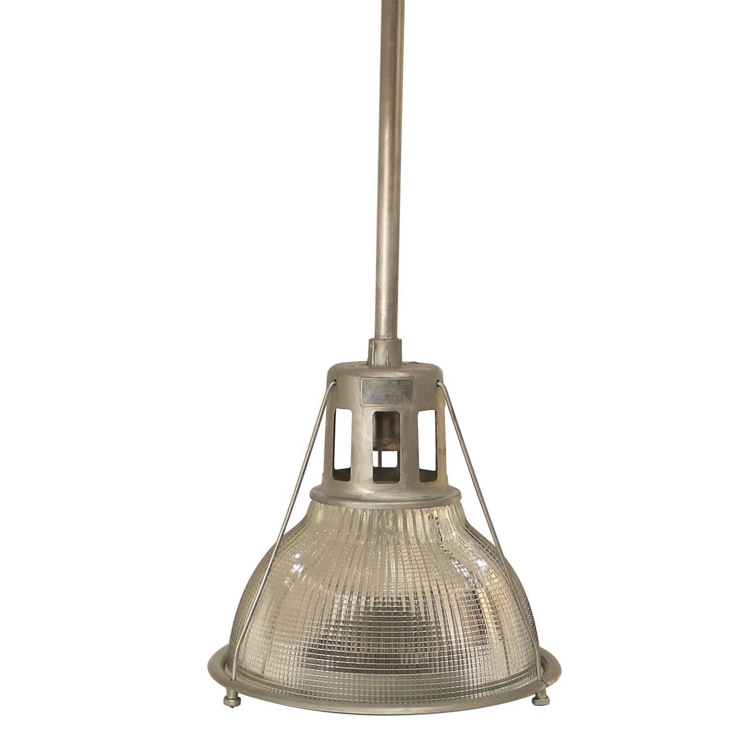 Outstanding Industrial 1940s Holophane Light For Sale At