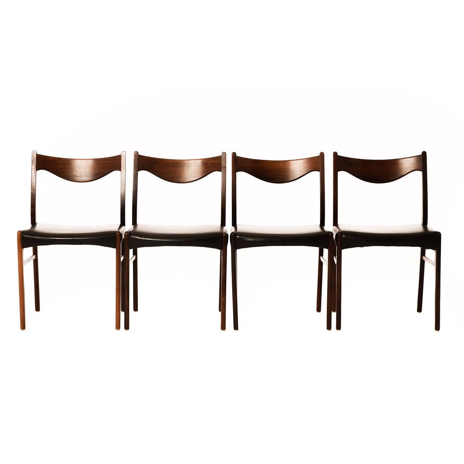 danish modern dining chairs set of four at 1stdibs