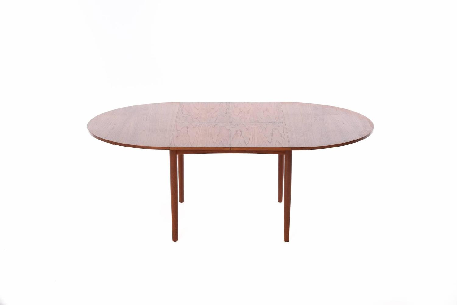 Danish Modern Dining Table With Self Storing Leaves At 1stdibs