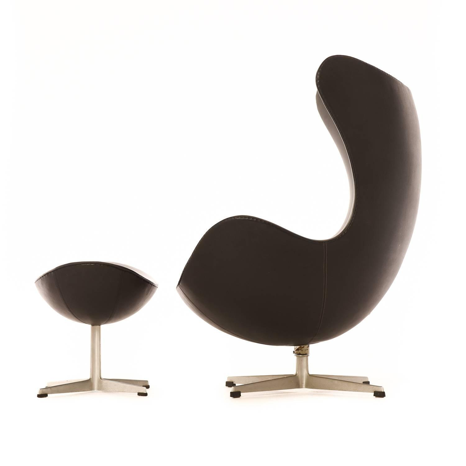 Danish Modern Egg Chair With Ottoman For Sale At 1stdibs