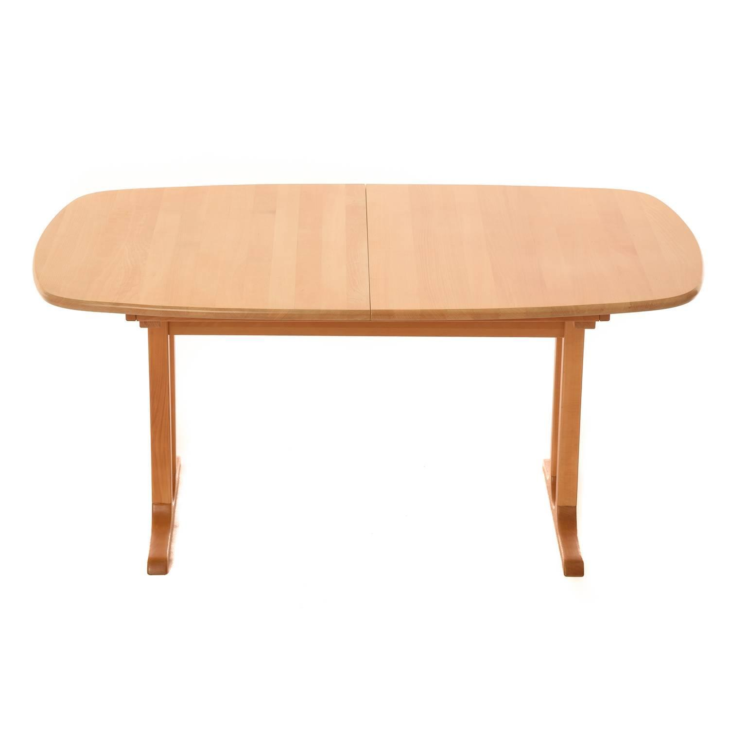 Danish modern pedestal dining table at 1stdibs for Danish modern dining room table