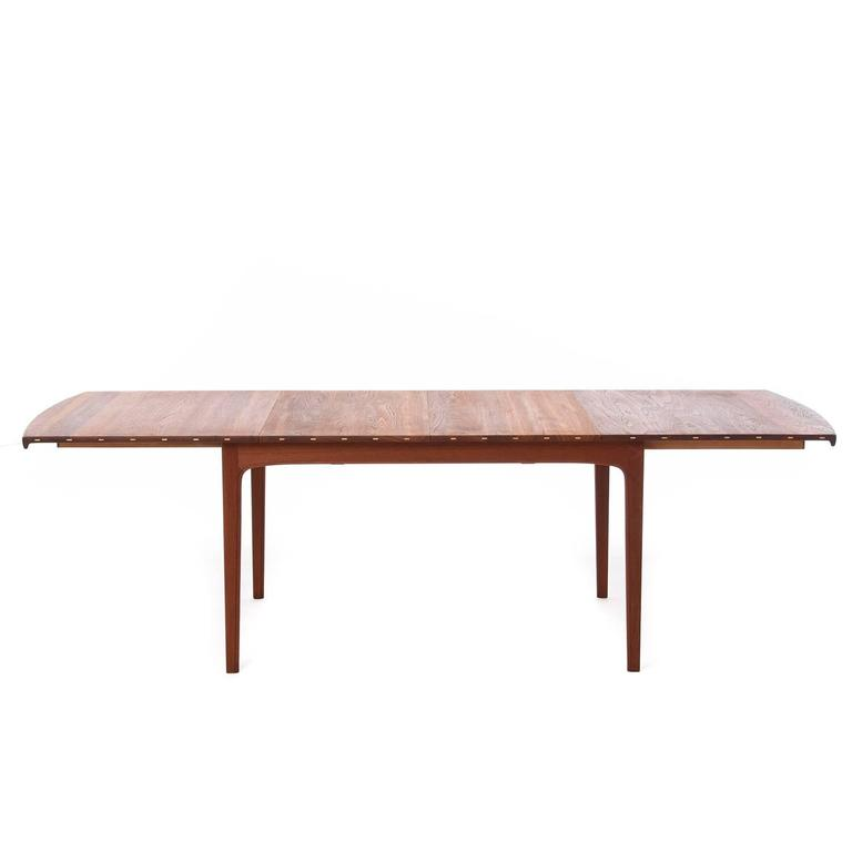 Danish Modern Extension Dining Table At 1stdibs
