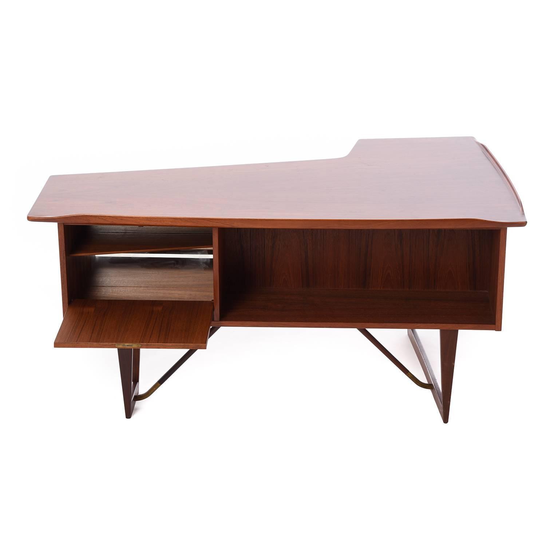 Danish Modern Vodder Boomerang Desk For Sale at 1stdibs